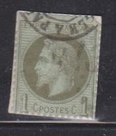 FRANCE Scott # 29 Used On Piece - Clipped Perfs - 1853-1860 Napoleon III