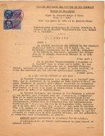 VP12.720 - PARIS - Acte 1952 - Entre La S.N.C.F Ligne De  PONT DE BRAYE à BLOIS - Gare De TROO & Mrs BARBAS & PLAILLY - Chemin De Fer