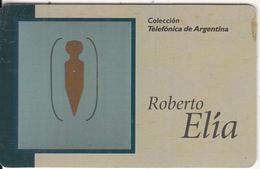 ARGENTINA(chip) - Klammer, Painting/Roberto Elia, Telefonica Telecard(A 10), Tirage 50000, 01/97, Used - Argentina