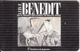 ARGENTINA(chip) - Para Don Florencio, Painting/Luis F.Benedit, Telefonica Telecard(A 07), Tirage 50000, 08/97, Used - Argentina