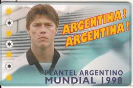 ARGENTINA(chip) - Mundial 1998/Matias Jesus Almeyda, Telefonica Telecard(F 118), Tirage 50000, 06/98, Used - Argentina