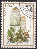 Laos 1985 Sc. 629 Mushrooms Funghi Champignons : COPRINUS COMATUS  Micologia Lao CTO - Funghi