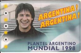 ARGENTINA(chip) - Mundial 1998/German Adrian Burgos, Telefonica Telecard(F 109), Tirage 50000, 05/98, Used - Argentina
