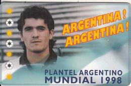 ARGENTINA(chip) - Mundial 1998/Ariel Arnaldo Ortega, Telefonica Telecard(F 108), Tirage 50000, 05/98, Used - Argentina