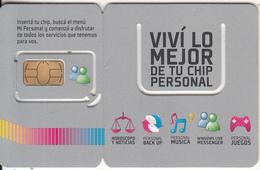 ARGENTINA - Vivi Lo Mejor, Personal GSM, Chip 5, Mint - Argentina
