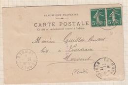 8AK 1610 CARTE COMMERCIALE MINES DE FAYMOREAU  POUR MERVENT 1912 2 SCANS - France