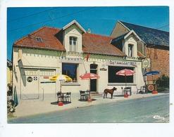 """CPM  Abîmée - Curlu  -(Somme) - (""""Chez Maurice """") - Café-Tabac-Restaurant-Articles De Pêche - France"""
