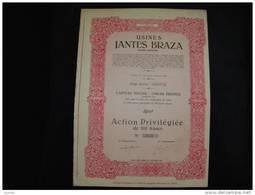 """Action""""Usines Jantes Braza""""Herstal 1951 Bon état,avec Tous Les Coupons - Automobile"""