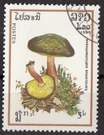 Laos 1985 Sc. 631 Mushrooms Funghi Champignons : Xerocomus Subtomentosus Micologia Lao CTO - Funghi