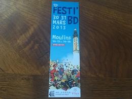 Marque Page Festi'bd Moulins Spirou Franquin - Marcapáginas