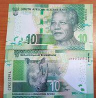 South Africa R10 Banknote Featuring Nelson Mandela Note 2012 Money UNC - Afrique Du Sud
