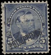 Philippines Scott # 216, 5¢ Blue (1899) Grant, Used - Philippines