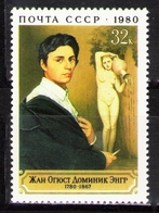 French Painter Ingres Portrait MNH 1980 Russia Sc 4858 Mi 4987 - Museums
