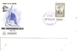 Prix Nobel - Paix - Dag Hammarskjold ( FDC De Panama De 1961 à Voir) - Nobel Prize Laureates