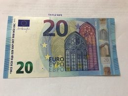 Italy  Banknote Draghi  20 Euro 2015 - EURO