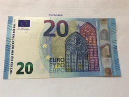 Italy  Banknote Draghi  20 Euro 2015 #2 - EURO