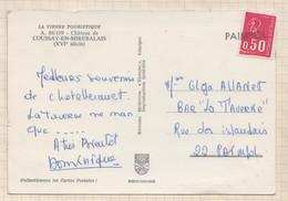 8AK1623 AU DOS CARTE COUSSAY EN MIREBALAIS  CACHET EN LIGNE LINEAIRE PAIMPOL 2 SCAN3 - Marcophilie (Lettres)