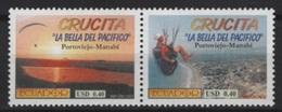 Ecuador (2002) Yv. 1640/41   /  Tourism - Heritage - Crucita - Nature - Beach - Vakantie & Toerisme