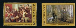Art Painting Lenin BELOUSOV, SYSOEV MNH 1987 Complete Set Of 2 Sc 5549-5550 Mi 5702-5703 Russia - Museums