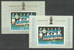 AJMAN - MNH - Sport - Soccer - Champions Of Sport - Perf. + Imperf. - Autres