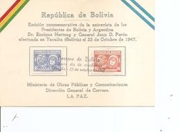 Bolivie ( Carte Premier Jour De 1947 à Voir) - Bolivia