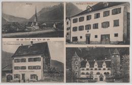 Gruss Aus Igis - Kirche, Rathaus Und Schule, Consumverein, Schloss Marschling - GR Grisons