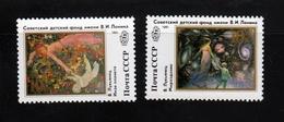 Art Universe, Planet BOB Sc B181-B182 Mi 6202-03 MNH 1991 Complete Set Of 2 Russia - Museums
