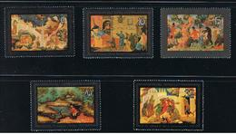 FAIRY TALES Painting Lacquer-ware Sc 5063-5067 Mi 5194-5198 MNH 1982 Complete Set Of 5 Russia - Museums