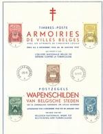 België    Herdenkingskaart    743 - 747 - Cartes Souvenir