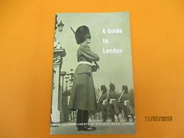 Guide Et Plan De LONDRES/ A Guide To LONDON/Midland Bank Limited/ 1961        PGC238 - Cartes Routières