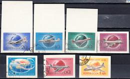 USSR 1958 Aviation Airplanes MiNr. 2106-08B + 2169-70B + 2193B - Used Stamps