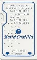 Meliá Castilla (Madrid) Hotel Keycard - Spain - Hotelkarten