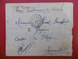 LETTRE CACHET CORPS EXPÉDITIONNAIRE DE CHINE CACHET DE LIGNE 1901 - Storia Postale