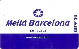 Meliá Barcelona Hotel Keycard - Spain - Hotelkarten