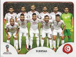 VIGNETTE PANINI FIFA WORLD CUP RUSSIA 2018 TUNISIE EQUIPE N°553 - Panini
