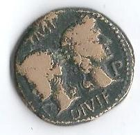 Monnaie Romaine Gaule Nimes Nemausus Augustus Et Agrippa Dupondius 27 BC-AD 14 - 1. The Julio-Claudians (27 BC To 69 AD)