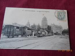 CPA - Châteaugiron - La Gare Et Le Château - Châteaugiron
