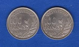 100  Fr  1958  +  100  Fr  1958 B - N. 100 Francs
