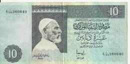 LIBYE 10 DINARS ND1991 VF+ P 61 B - Libya