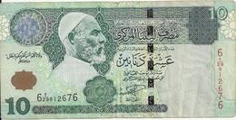 LIBYE 10 DINARS ND2004 VF P 70 - Libya
