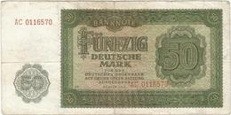 Alemania Democrática - Germany Democrátic 50 Mark 1948 Pick 14b Ref 1776 - [ 6] 1949-1990 : GDR - German Dem. Rep.
