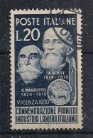 ITALIA  1950  LANIERI   SASS. 628  USATO VF - 1946-.. République