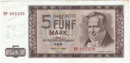 Alemania Democrática - Germany Democrátic 5 Mark 1964 Replacement YP Pick 22a.r  Ref 1777 - [ 6] 1949-1990 : GDR - German Dem. Rep.