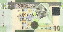 LIBYE 10 DINARS 2011 UNC P 78A B - Libya