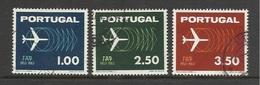 Portugal 1963 Yvert 932/934 ° 10 Ans TAP Avions Planes - Cancelled - 1910-... République