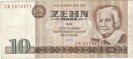 Alemania Democrática - German Democrátic 10 Mark 1971 Replacement ZN Pick 28b.r Ref 1779 - [ 6] 1949-1990 : RDA - Rep. Dem. Alemana