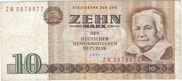 Alemania Democrática - German Democrátic 10 Mark 1971 Replacement ZN Pick 28b.r Ref 900-2 - [ 6] 1949-1990 : RDA - Rep. Dem. Alemana