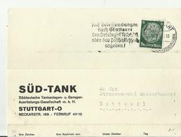 DR GS 1940 SST STUTTGART - Interi Postali