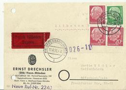 BDR Express Karte   Offenbach 1956 - Cartoline - Usati