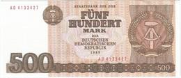 Alemania Democrática - German Democrátic 500 Mark 1985 Pick 33 UNC Ref 902-1 - [ 6] 1949-1990 : RDA - Rep. Dem. Alemana